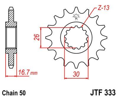 Priekinė žvaigždė JT (JTF 333-16)