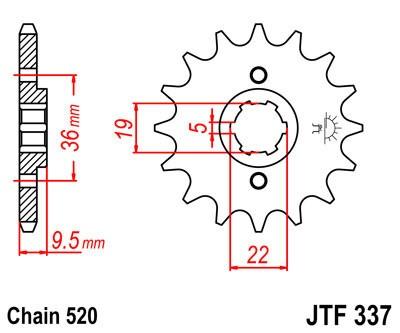 Priekinė žvaigždė JT (JTF 337-14)