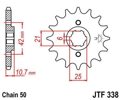 Priekinė žvaigždė JT (JTF 338-16)