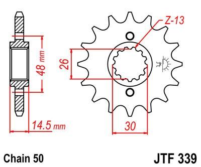 Priekinė žvaigždė JT (JTF 339-16)