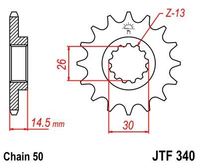 Priekinė žvaigždė JT (JTF 340-18)