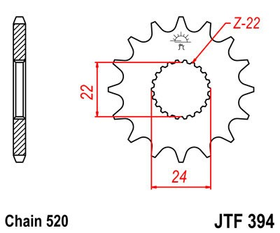 Priekinė žvaigždė JT (JTF 394-14)