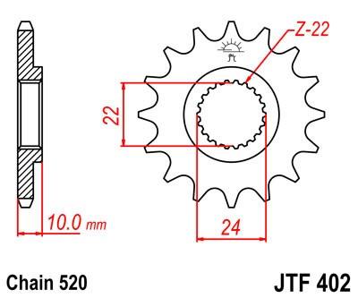 Priekinė žvaigždė JT (JTF 402-14)