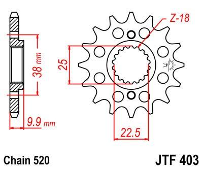 Priekinė žvaigždė JT (JTF 403-15)