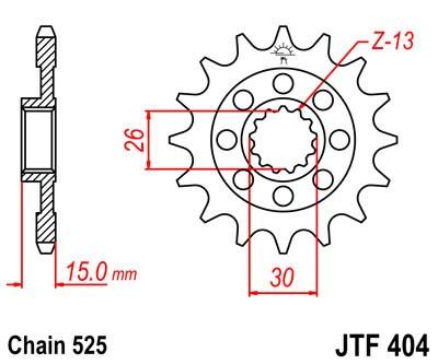 Priekinė žvaigždė JT (JTF 404-17)