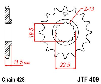Priekinė žvaigždė JT (JTF 409-14)