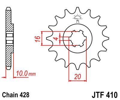 Priekinė žvaigždė JT (JTF 410-15)