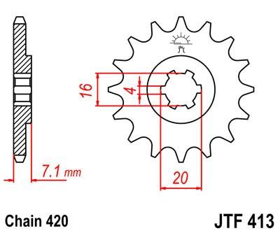 Priekinė žvaigždė JT (JTF 413-12)