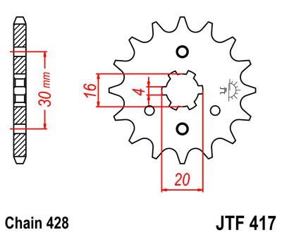 Priekinė žvaigždė JT (JTF 417-14)
