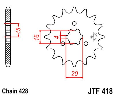 Priekinė žvaigždė JT (JTF 418-13)