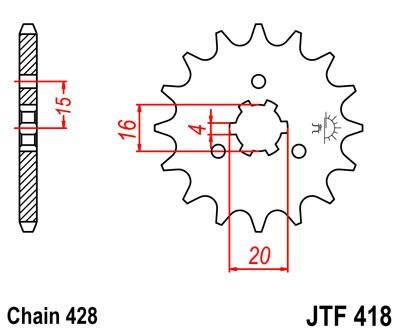 Priekinė žvaigždė JT (JTF 418-15)