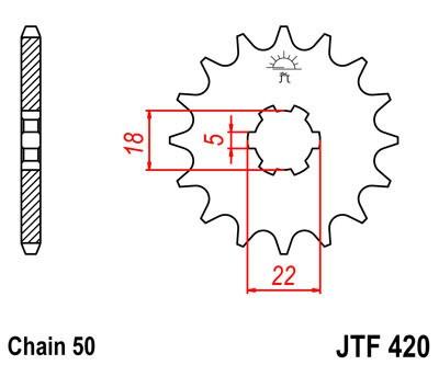 Priekinė žvaigždė JT (JTF 420-15)
