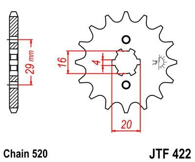 Priekinė žvaigždė JT (JTF 422-12)