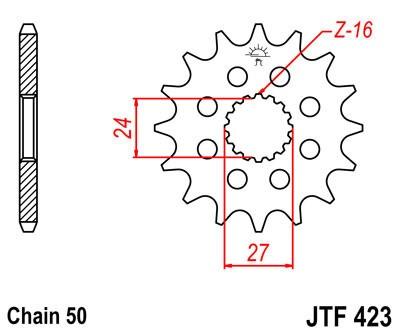 Priekinė žvaigždė JT (JTF 423-16)