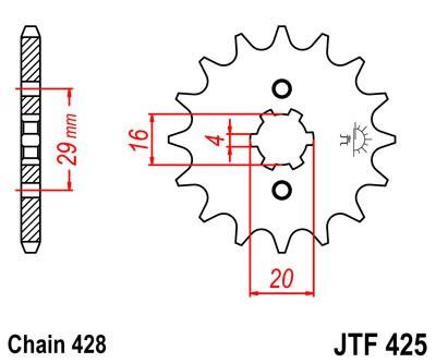 Priekinė žvaigždė JT (JTF 425-16)