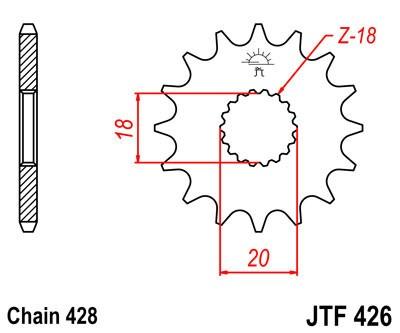 Priekinė žvaigždė JT (JTF 426-12)