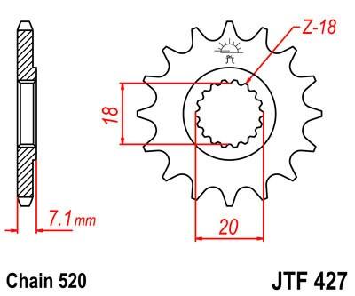 Priekinė žvaigždė JT (JTF 427-11)