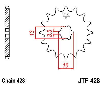 Priekinė žvaigždė JT (JTF 428-16)