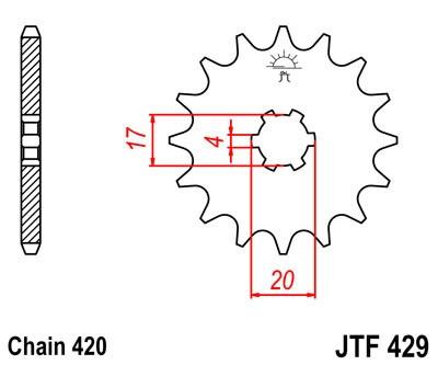Priekinė žvaigždė JT (JTF 429-13)