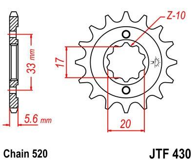 Priekinė žvaigždė JT (JTF 430-12)