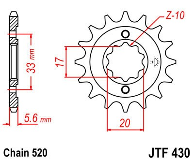 Priekinė žvaigždė JT (JTF 430-14)