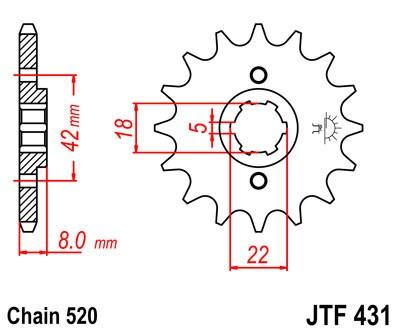 Priekinė žvaigždė JT (JTF 431-12)