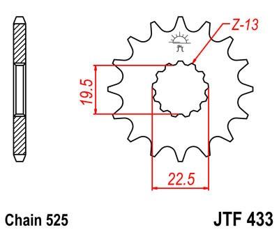 Priekinė žvaigždė JT (JTF 433-15)