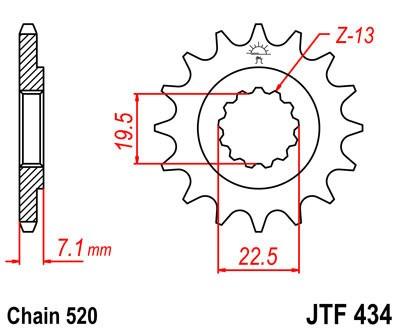 Priekinė žvaigždė JT (JTF 434-16)