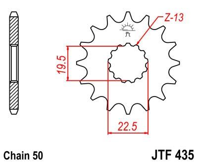 Priekinė žvaigždė JT (JTF 435-14)