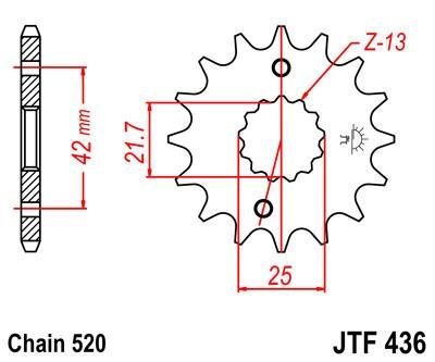 Priekinė žvaigždė JT (JTF 436-16)