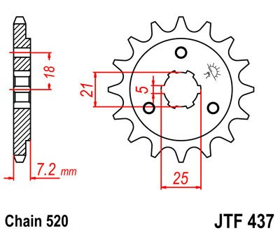 Priekinė žvaigždė JT (JTF 437-14)
