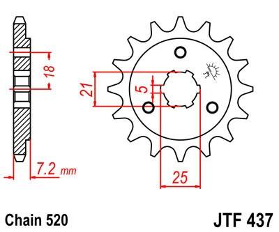 Priekinė žvaigždė JT (JTF 437-16)