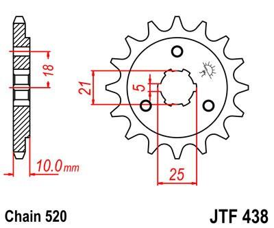 Priekinė žvaigždė JT (JTF 438-15)