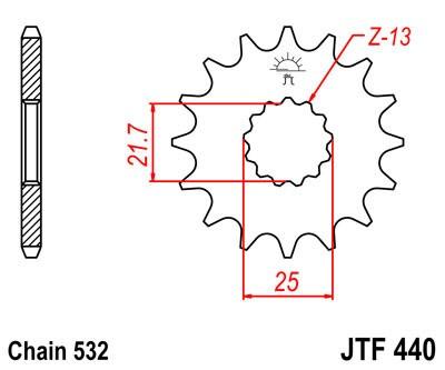 Priekinė žvaigždė JT (JTF 440-14)