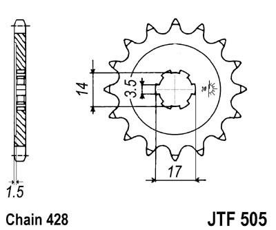 Priekinė žvaigždė JT (JTF 505-15)