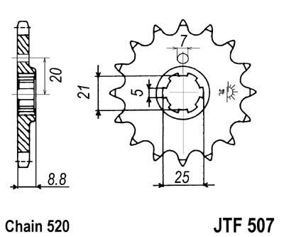 Priekinė žvaigždė JT (JTF 507-14)