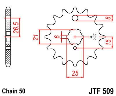 Priekinė žvaigždė JT (JTF 509-15)
