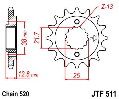 Priekinė žvaigždė JT (JTF 511-15)