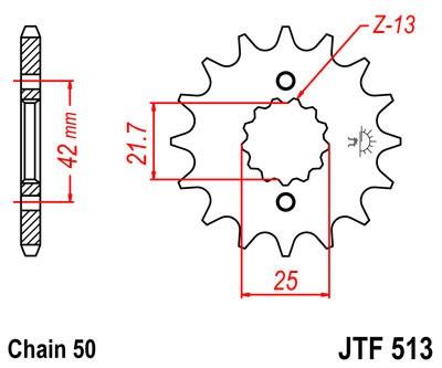 Priekinė žvaigždė JT (JTF 513-13)