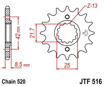 Priekinė žvaigždė JT (JTF 516-13)