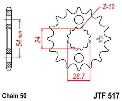 Priekinė žvaigždė JT (JTF 517-15)