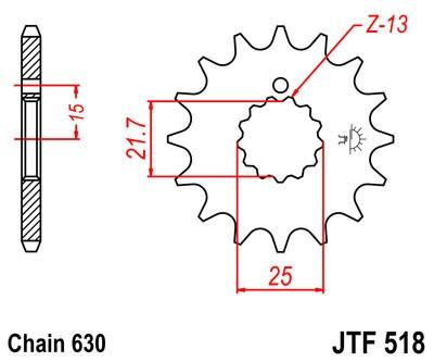 Priekinė žvaigždė JT (JTF 518-15)