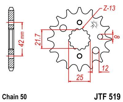 Priekinė žvaigždė JT (JTF 519-15)