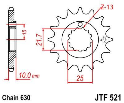 Priekinė žvaigždė JT (JTF 521-15)