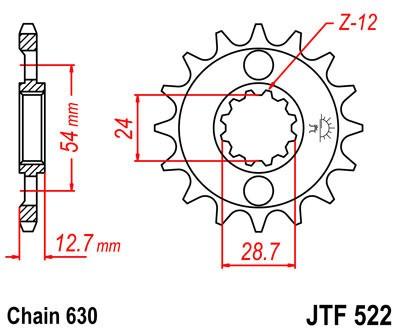Priekinė žvaigždė JT (JTF 522-16)
