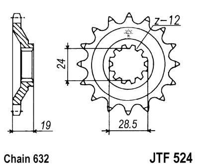 Priekinė žvaigždė JT (JTF 524-15)