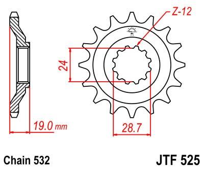Priekinė žvaigždė JT (JTF 525-17)