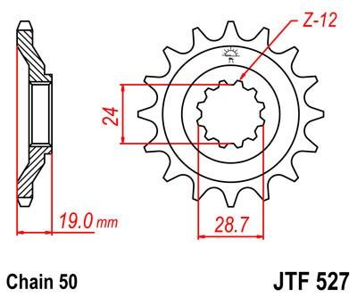 Priekinė žvaigždė JT (JTF 527-16)