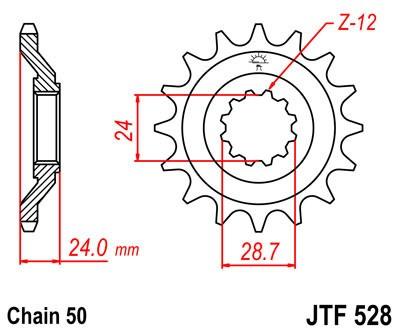Priekinė žvaigždė JT (JTF 528-17)