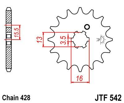 Priekinė žvaigždė JT (JTF 542-10)